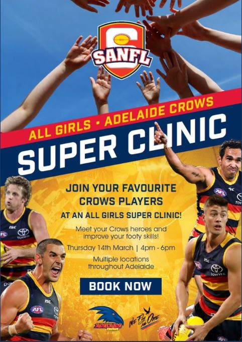 all girls adelaide crows super clinic