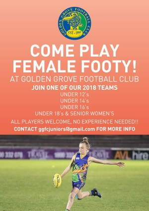 Female footy poster